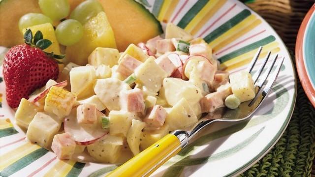 insalata di patate prosciutto e formaggio