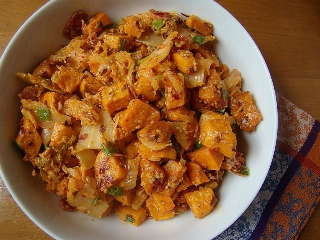 kimchi insalata di patate