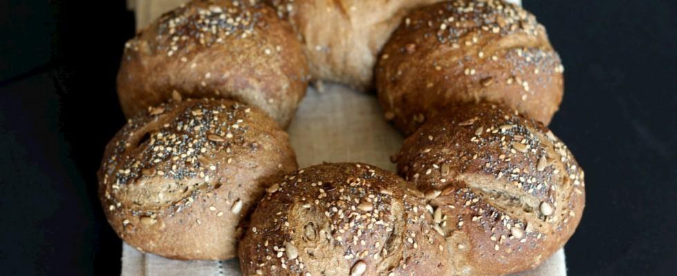Pane tedesco con segale e farro