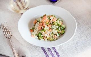 Risotto zucchine e gamberetti: facilissimo