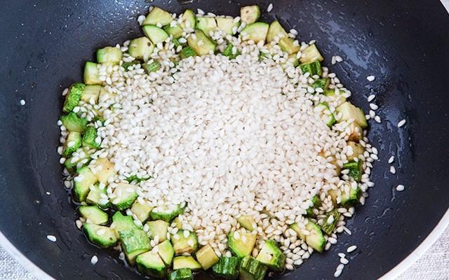 risotto zucchine e gamberetti (3)