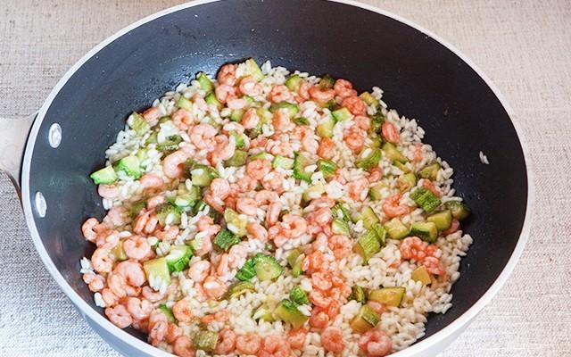 risotto zucchine e gamberetti (4)