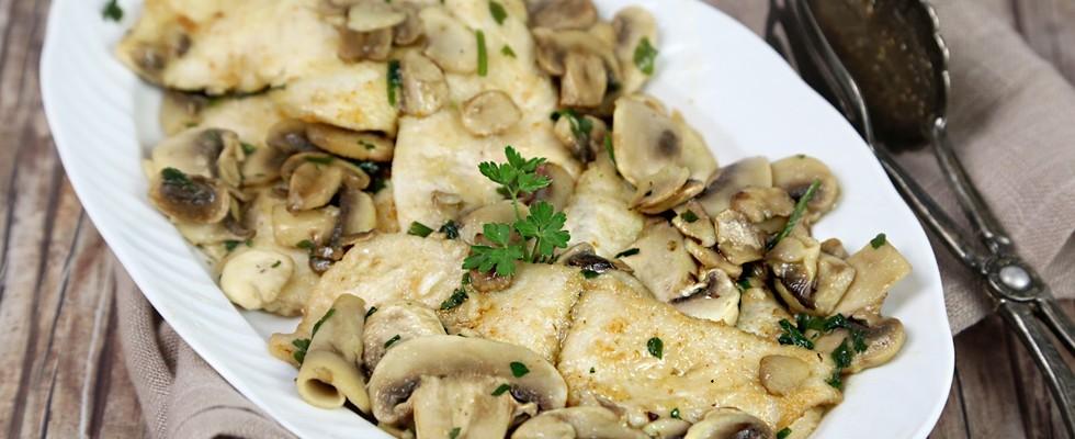 Scaloppine di pollo ai funghi, semplicissime