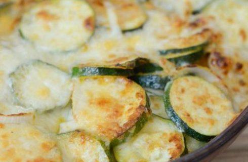 Le zucchine gratinate al parmigiano per un secondo sfizioso