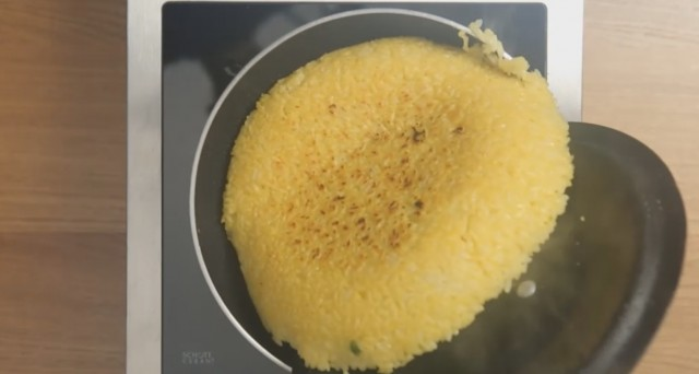 frittata di riso ripiena 06