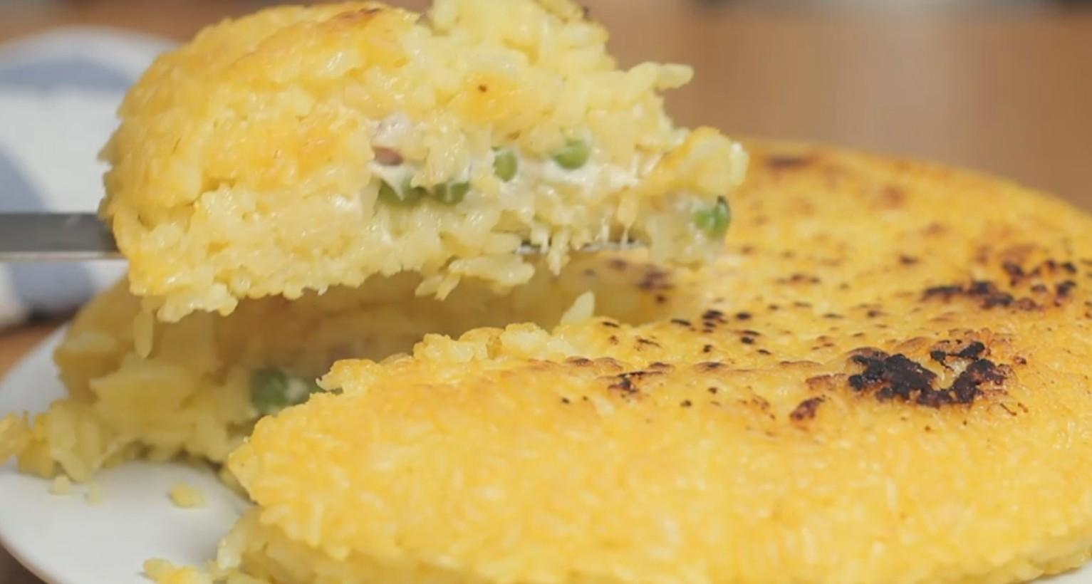 Ricetta frittata di riso ripiena agrodolce for Ricette di riso