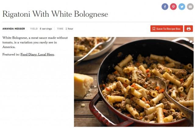white bolognese