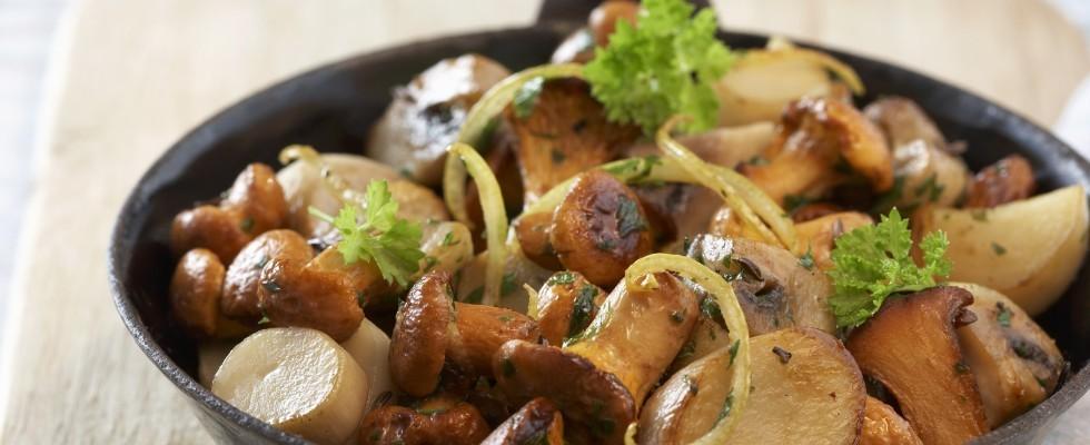 Funghi in padella, sapori d'autunno