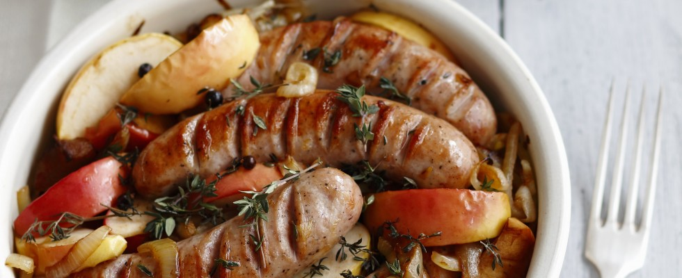 Salsicce al forno, per cena