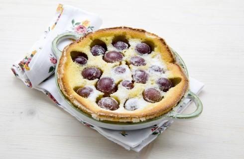 Clafoutis alle prugne, per dessert