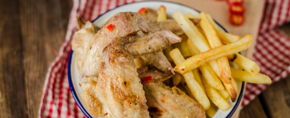 Alette di pollo piccanti: croccanti