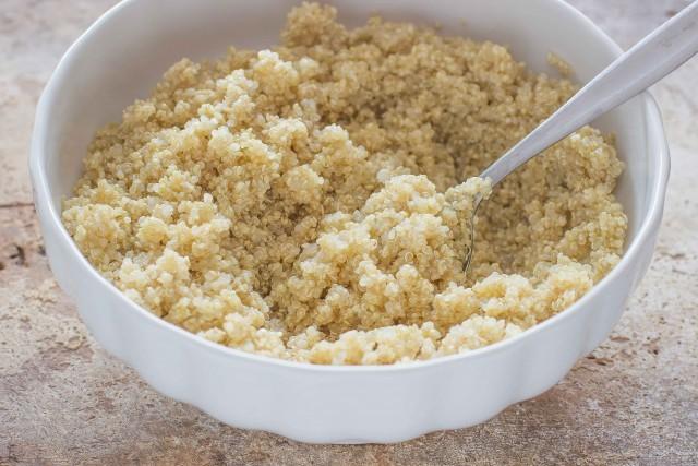 Step 1 insalata fredda di quinoa e lenticchie