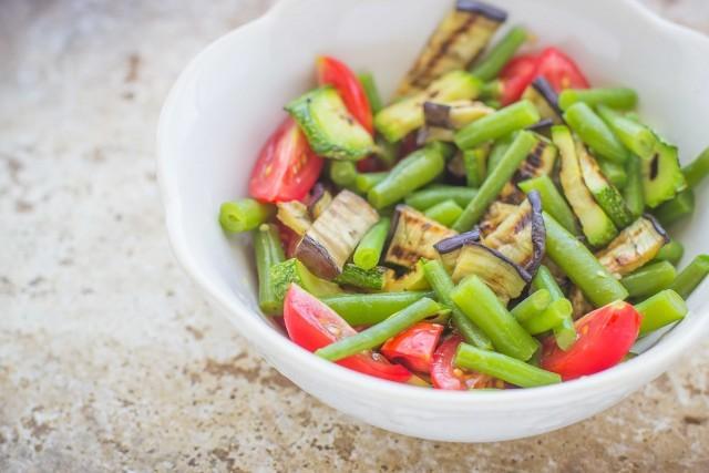 Step 2 insalata di riso venere con verdure