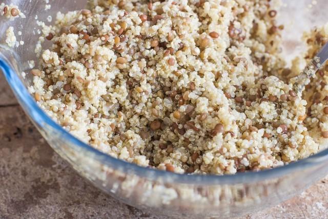 Step 2 insalata fredda di quinoa e lenticchie