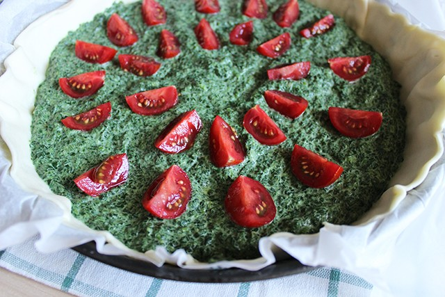 Torta salata pomodorini e spinaci FOTO4