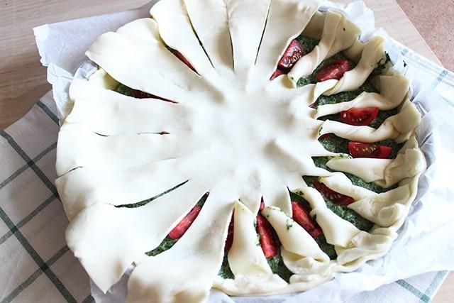Torta salata pomodorini e spinaci FOTO5