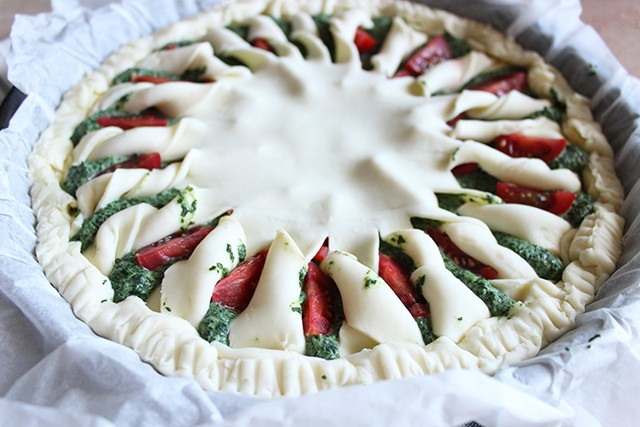 Torta salata pomodorini e spinaci FOTO6