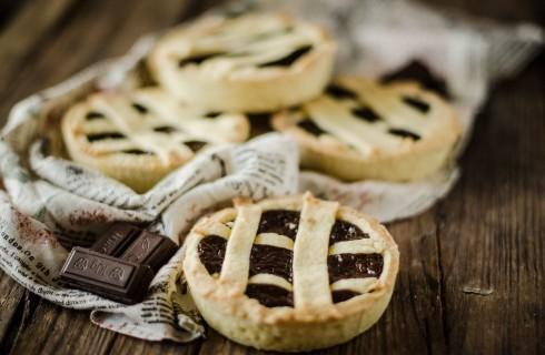 Crostatine al cioccolato fatte in casa