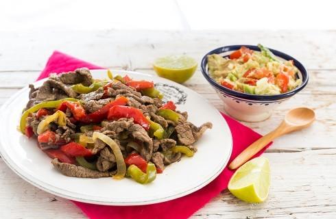 Fajitas di manzo: cucina messicana