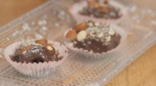 Fudge cioccolato e mandorle, per il dessert