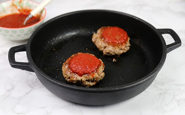 hamburger alla pizzaiola step (3)