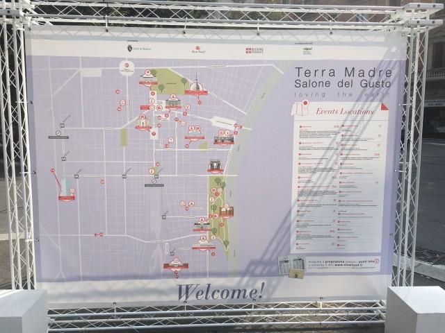 la mappa degli eventi così come èraccontata da i molti cartelloni sparsi per la città