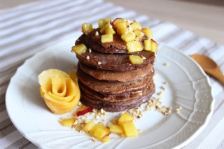 Pancake al cioccolato vegani