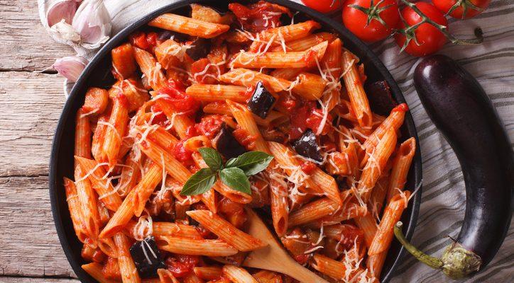 La ricetta light della pasta alla norma