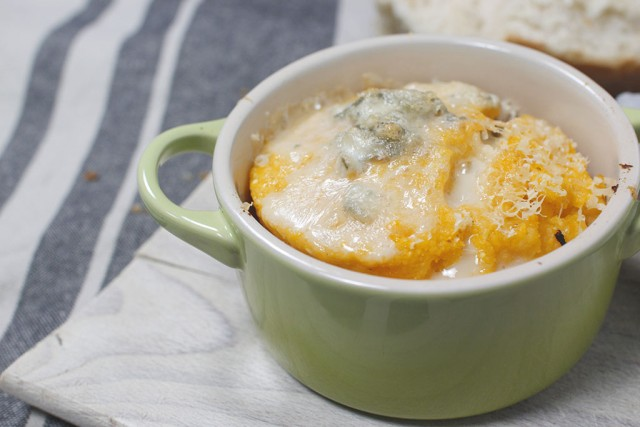 polenta zucca e gorgonzola