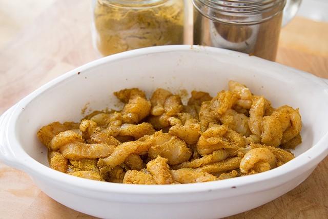 straccetti di pollo al curry (2)