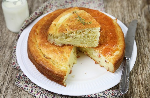 Torta 7 vasetti salata: speck e provola