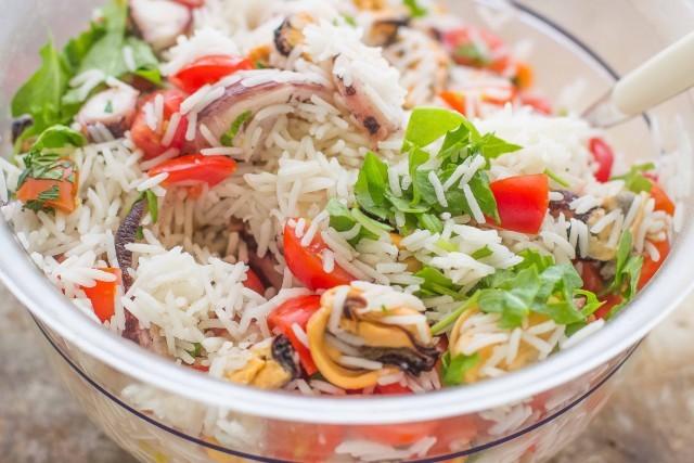Step 4 insalata di riso marinara
