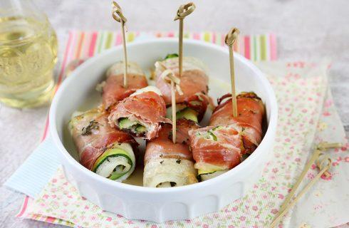 Involtini di sogliola con zucchine e speck