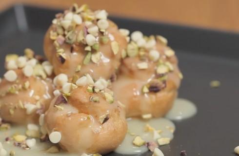Profiteroles al pistacchio, facilissimi