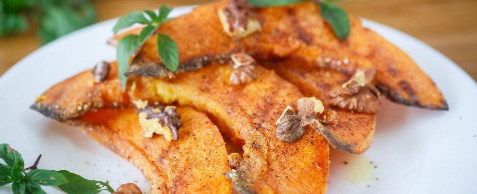 La ricetta della zucca gratinata al forno light per chi è a dieta