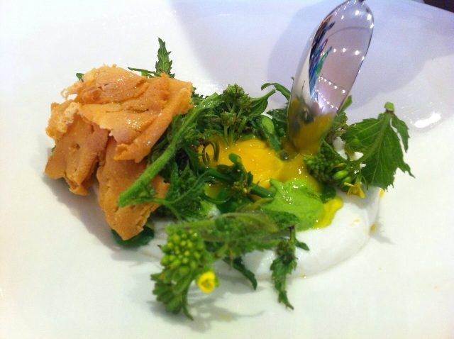Piatto di Pino Cuttaia, chef del ristorante La Madia di Agrigento