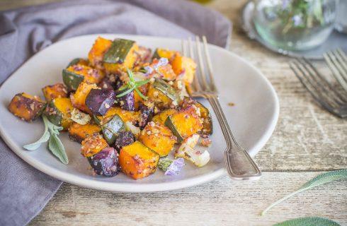 Teglia di verdure al forno: per l'autunno