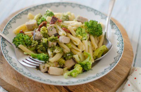 Caserecce broccoli e spada, primo completo
