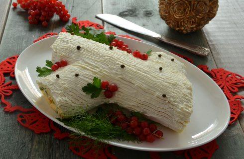 Tronchetto di Natale salato: prosciutto cotto e insalata russa