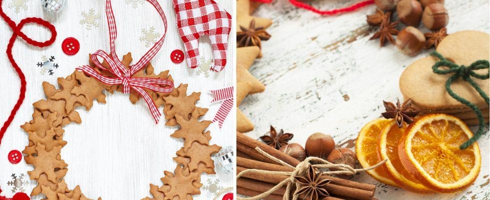 La ghirlanda di biscotti di Natale con la ricetta facile