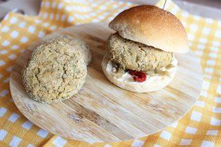 Hamburger di azuki verdi: cucina vegana