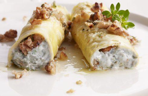 Cannelloni al gorgonzola, primo piatto vegetariano