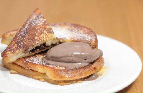 French toast banana e cioccolato: golosa merenda