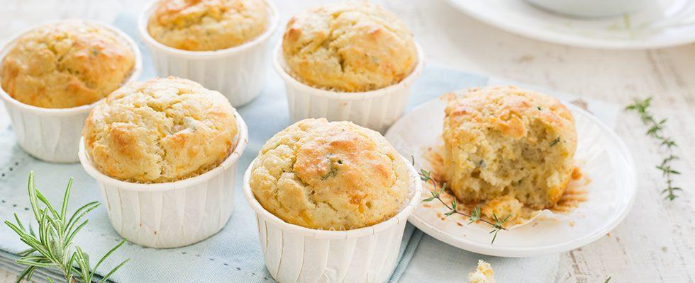 Muffin ai quattro formaggi: spezza fame