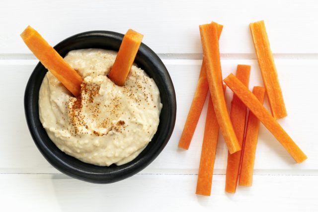 carote e hummus