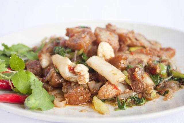 maiale croccante thai