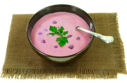 Vellutata di cavolfiore viola: la ricetta facile per cena
