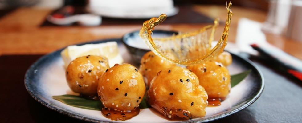 Frutta caramellata cinese, per il dessert