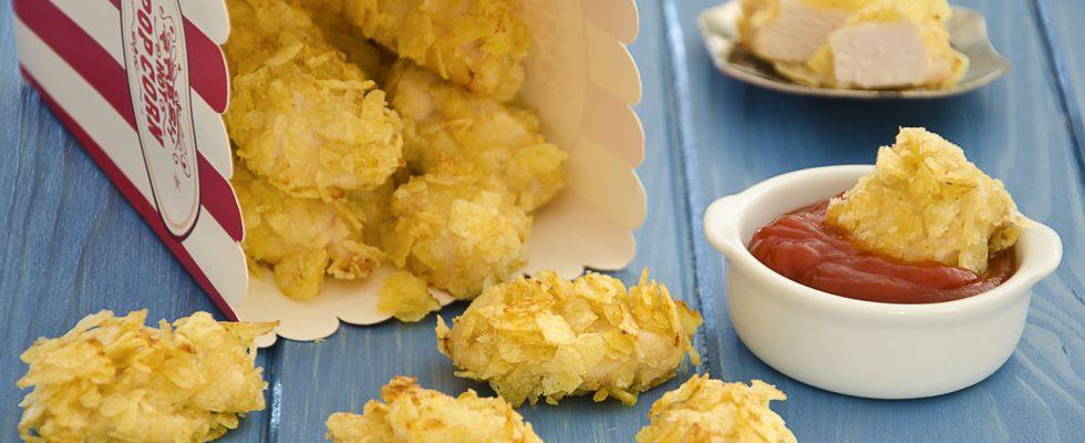 Pepite di pollo croccanti, per cena