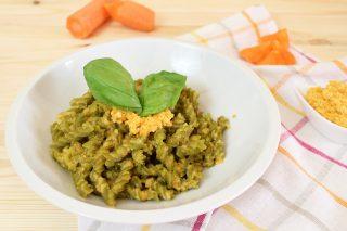 Pesto di carote, primo piatto vegano